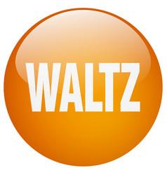 Waltz orange round gel isolated push button vector