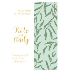 wedding invitation card template rustic vector image