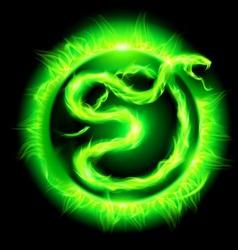 Year snake sun green 01 vector