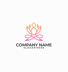 yoga design template vector image