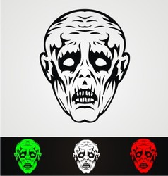 Zombie Face vector image