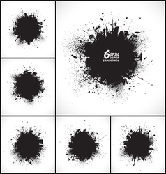 6 abstract grunge backgrounds vector image vector image