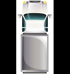 A topview of a grey vehicle vector image vector image