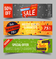 black friday or retail sale advertising tags vector image
