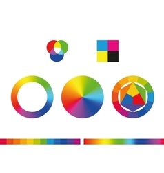 Color wheels and color palette vector image