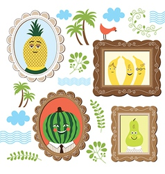 Portrait of the fruits vector image vector image