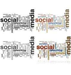 Social Media word cloud vector image
