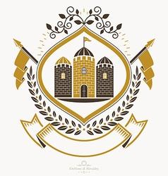 Vintage award design vintage heraldic coat of arms vector