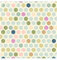 vintage hexagon background vector image vector image