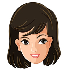 A females face vector image