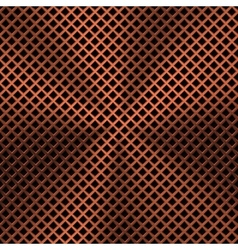 Background with Lozenge Pattern and Bronze Texture vector image vector image