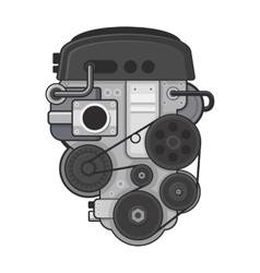 Car Engine Concept on White Background vector image vector image