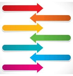 colorful arrow icon stock vector image vector image