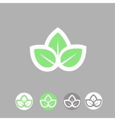 Green leaves ecology symbol template logo design vector image vector image