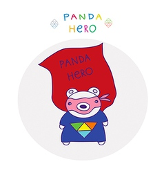 panda superman vector image