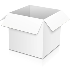 White isolated paper box vector image