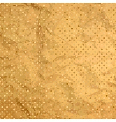 Aged and worn paper with polka dots EPS 8 vector image vector image