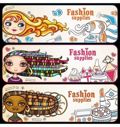 Fashion banners vector image vector image