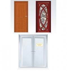 front doors vector image vector image