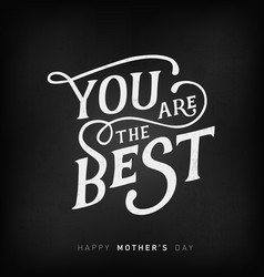 mothers day minimal greeting card in vintage style vector image