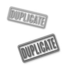 rectangular stamp duplicate vector image