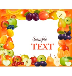 sweet fruit background vector image vector image