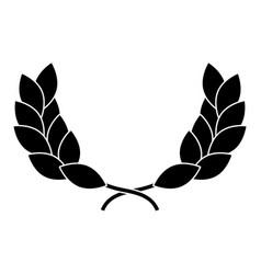 wreath leafs crown award vector image vector image