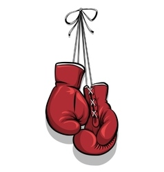 Hanging boxing gloves vector image vector image