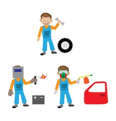 The repair of the car The car service vector image vector image