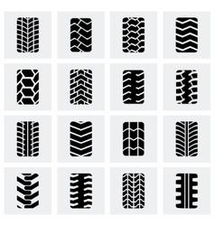 Tire icon set vector image