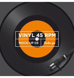 vinyl 45 rpm mockup 03 vector image vector image