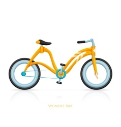 Womens Bike Two vector image vector image