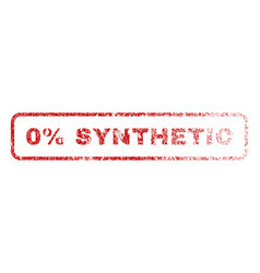 0 percent synthetic rubber stamp vector image