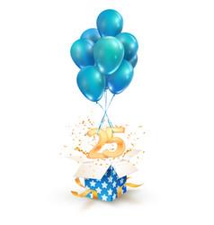 25th years celebrations greetings twenty-five vector