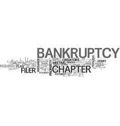 A look at personal bankruptcy what to expect text vector