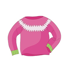 A view of sweater vector