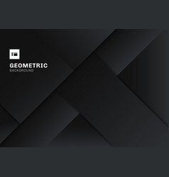 abstract black and gray geometric shape vector image