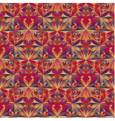 Abstract polygonal mosaic floral pattern vector