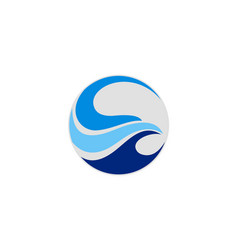 abstract wave water logo vector image