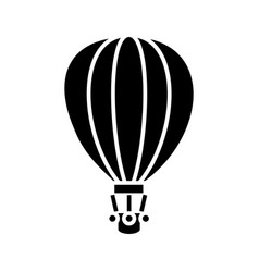 air balloon black icon concept vector image