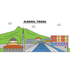 Albania tirana islam city skyline architecture vector