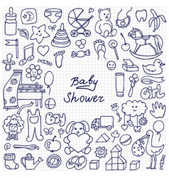 Baby shower sketch vector