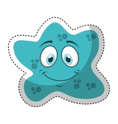 bacterium comic character icon vector image