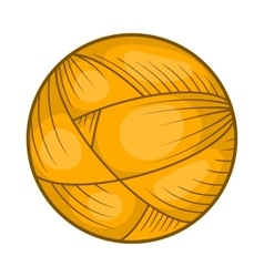 Ball of wool yarn for knitting icon cartoon style vector