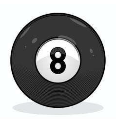 Billiard eight ball vector image