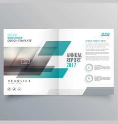 Brand business magazine cover template layout vector