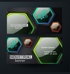 Business horizontal banners vector