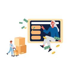 buying online buyer purchasing domestic vector image