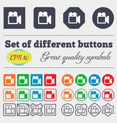 camcorder icon sign Big set of colorful diverse vector image