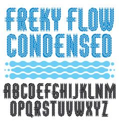 Capital modern disco alphabet letters set rounded vector
